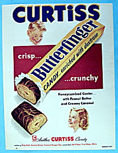 Vintage Ad: 1953 Curtiss Butterfinger Candy Bar (Image1)