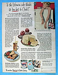 Vintage Ad: 1953 Spry Shortening (Image1)