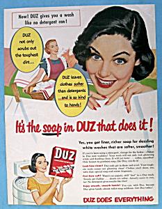 Vintage Ad: 1953 Duz (Image1)