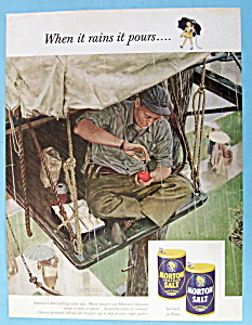 1953 Morton Salt W/ Man Having Lunch Douglas Crockwell