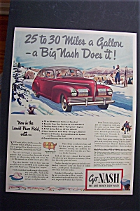 1940 Nash Cars with Great Picture of a Nash Automobile (Image1)