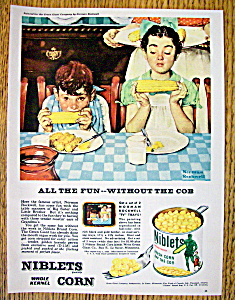 1953 Green Giant Corn By Norman Rockwell