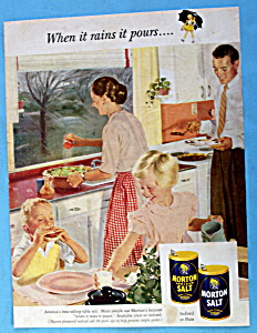 1953 Morton Salt W/family & Dinner By Douglas Crockwell