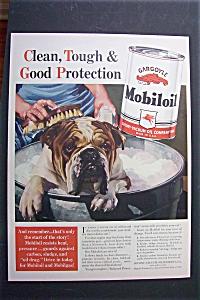 1940 Gargoyle Mobil Oil w/Dog Getting A Bath in Bucket (Image1)