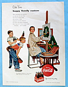 1954 Coca Cola (Coke) With A Woman Painting