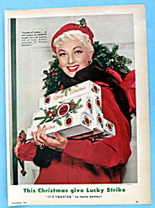 Vintage Ad: 1954 Lucky Strike Cigarettes W/ Ann Sothern