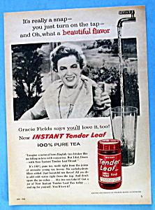 Vintage Ad: 1960 Tender Leaf Tea with Gracie Fields (Image1)