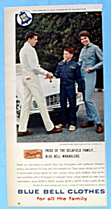 1960 Blue Bell Clothes with Family Standing By Car (Image1)