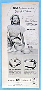 Vintage Ad: 1948 Knapp Monarch Appliances W/ann Sothern