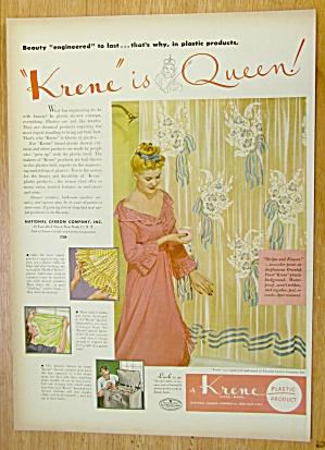 1946 Krene Plastics w/Woman Standing By Shower Curtain (Image1)