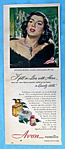 Vintage Ad: 1949 Avon Cosmetics W/ Rosalind Russell