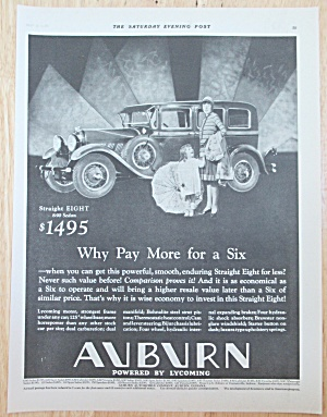 1929 Auburn Automobile With Straight Eight 890 Sedan