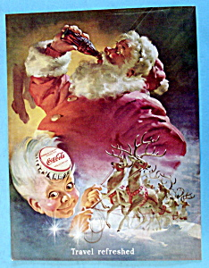 1949 Coca Cola (Coke) with Santa Claus Drinking Bottle (Image1)