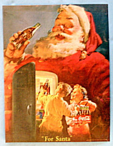 Vintage Ad: 1950 Coca Cola with Santa Claus (Image1)