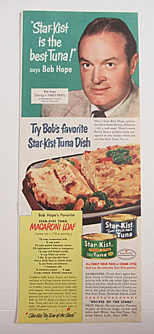 Vintage Ad: 1950 Star Kist Tuna With Bob Hope