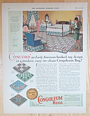 1929 Congoleum Rugs With Women Talking About Rug