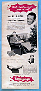 Vintage Ad: 1951 Barcalounger With Bill Holden