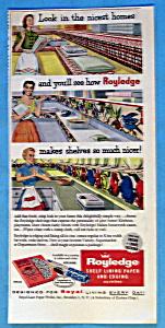 Vintage Ad: 1954 Royledge Shelf Lining Paper (Image1)