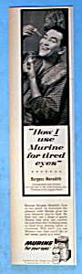 Vintage Ad: 1956 Murine With Burgess Meredith