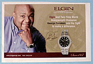 Vintage Ad: 2004 Elgin Watch with George Foreman (Image1)
