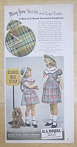 1950 U.S. Royal Fabrics with 2 Little Girls (Image1)