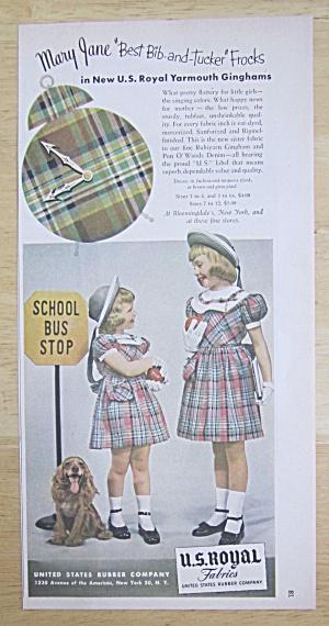 1950 U.S. Royal Fabrics with 2 Little Girls (Image1)