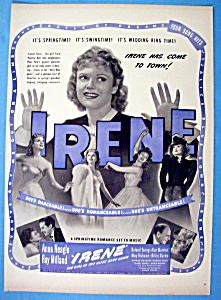Vintage Ad: 1940 Irene With Anna Neagle & Ray Milland