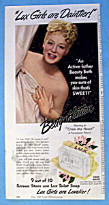 Vintage Ad: 1946 Lux Soap With Betty Hutton
