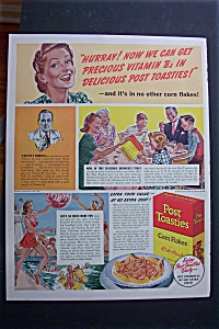 1940 Post Toasties Corn Flakes with Mother Talking  (Image1)