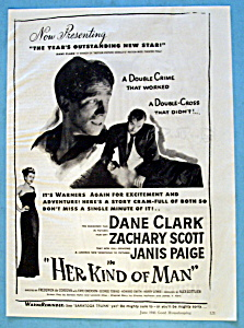 Vintage Ad: 1946 Her Kind Of Man With Dane Clark