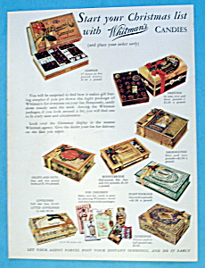 Vintage Ad: 1932 Whitman's Candies