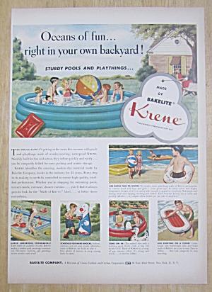 1954 Bakelite Krene with Sturdy Pools & Playthings (Image1)