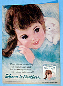 1963 Northern Tissue with Little Girl with Kitten (Image1)