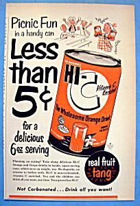 Vintage Ad: 1953 Hi C Orange Drink (Image1)