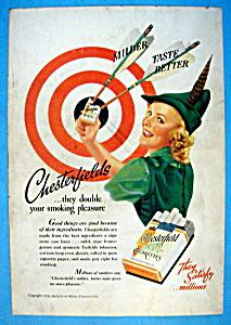 1938 Chesterfield Cigarettes w/Woman Like Robin Hood (Image1)