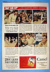1942 Camel Cigarettes w/Champion Bowler Lowell Jackson (Image1)