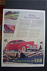 1940 Nash Cars w/Great Picture of a Red Nash Automobile (Image1)