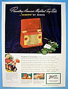 Vintage Ad: 1947 Zenith Zenette (Image1)