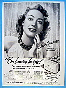 Vintage Ad: 1947 Lux Soap With Joan Crawford