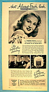 Vintage Ad: 1947 Woodbury Cold Cream w/Virginia Mayo (Image1)
