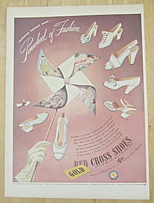 1945 Red Cross Shoes with Pinwheel of Fashion  (Image1)