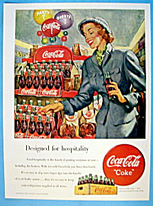 1949 Coca Cola (Coke) with Woman Grabbing a Six Pack (Image1)