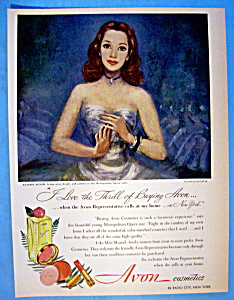 Vintage Ad: 1949 Avon Cosmetics By Lily Cushing (Image1)