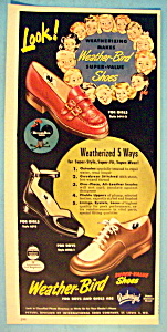 Vintage Ad: 1949 Weather-Bird Shoes (Image1)