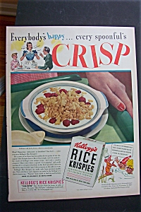1940 Kellogg's Rice Krispies Cereal