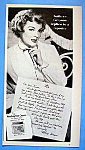 Vintage Ad: 1953 Woodbury Cold Cream w/ Kathryn Grayson (Image1)