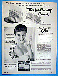 Vintage Ad: 1953 Lux Beauty Brush W/ Jan Sterling