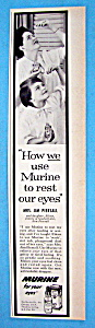 Vintage Ad: 1957 Murine with Mrs. Jim Piersall (Image1)