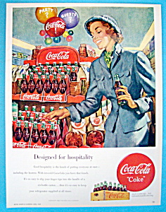 1949 Coca Cola (Coke) With Woman Carrying A Six Pack