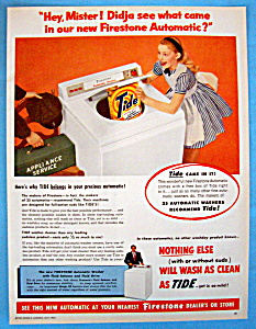 Vintage Ad 1955 Firestone Automatic Washing Machine